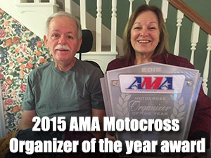 2015 AMA motocross organizer of the year award