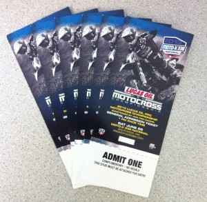Tickets 2013 Moto X 338 2013 WV